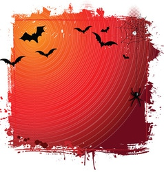 halloween grunge background 0409 vector image