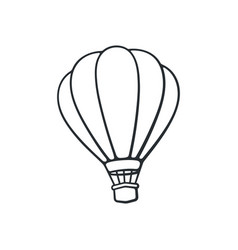 hand drawn doodle hot air balloon vector image