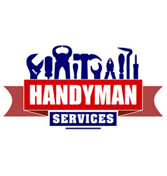 Handyman services design for your logo or emblem vector