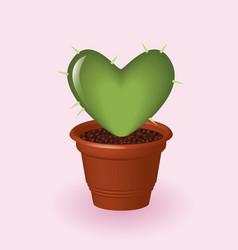 heart cactus vector image