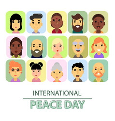 International day of peace the world starts with vector