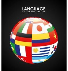 Language poster design vector
