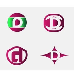 Letter D logo template Abstract icon vector