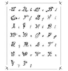 letters alphabet flowers vector image