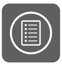 List Page Flat Squared Icon vector