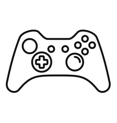 Modern gamepad icon outline style vector