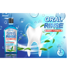 mouth rinse ads refreshing mouthwash product vector image