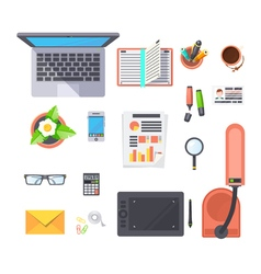 Office Workplace Objects Set vector