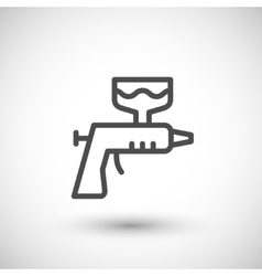 Paint gun line icon vector image