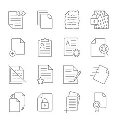 paper icon document icon vector image