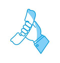 phone handset icon vector image