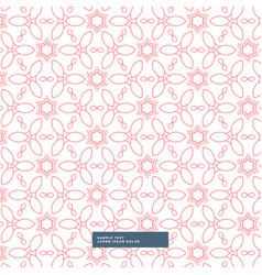 pink floral flower style pattern background vector image