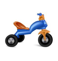 Plastic tricycle icon realistic style vector