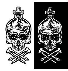 poison bottle skull vector image