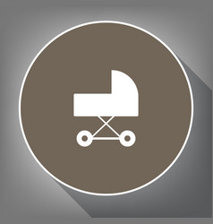pram sign white icon on vector image