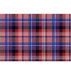 red blue pixel check seamless pattern vector image
