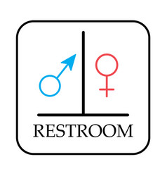 Restroom symbol toilet sign isolated vector