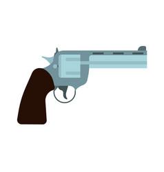 revolver side view gun icon bullet pistol western vector image