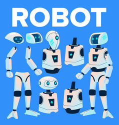 robot animation creation set modern robot vector image