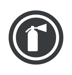 Round black fire extinguisher sign vector