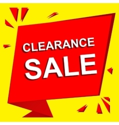 Sale poster with clearance sale text advertising vector