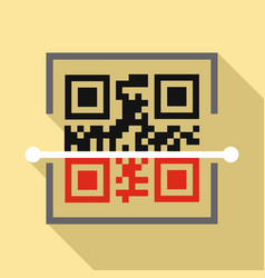 Scan qr code icon flat style vector