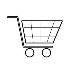 shopping cart virtual ecommerce business symbol vector image
