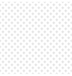 Silver seamless pattern with small flowers subtle vector