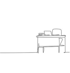 single continuous line drawing teacher chair vector image
