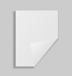 single paper page with folding corner vector image