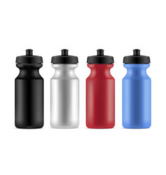 sports bottles realistic isolated vector image