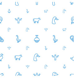 Standing icons pattern seamless white background vector