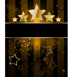 Striped background with stars vector