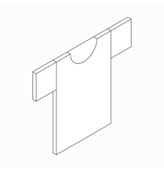 T-shirt icon isometric 3d style vector image