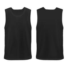 unn mock-up black mans sleeveless shirt vector image