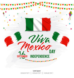 viva mexico happy independence day background vector image