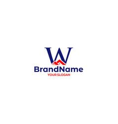 W real estate logo design vector