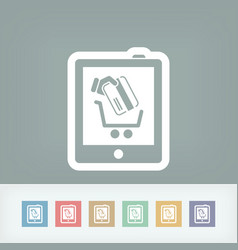 web store icon vector image