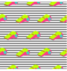 whistle pattern repeat seamless striped pop art vector image