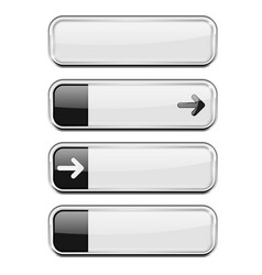 white buttons with black tags menu interface vector image