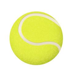 Yellow tennis ball 3d vector