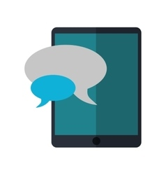 Mobile device chat dialog design vector