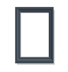 realistic dual black frame flat and shadow theme vector image vector image