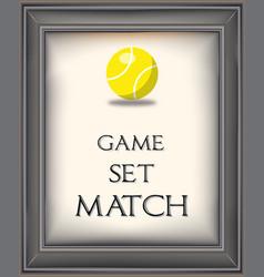 retro tennis poster vector image vector image