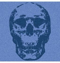 skull print vector image