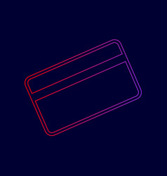 credit card symbol for download line icon vector image