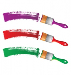 paint brushes vector image vector image