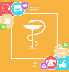 pharmacy symbol medical snake and cup vector image