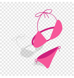 swimsuit isometric icon vector image
