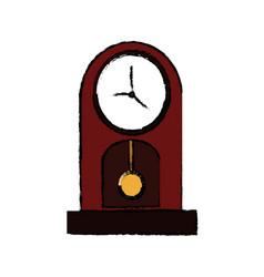 vintage clock pendulum decoration office element vector image